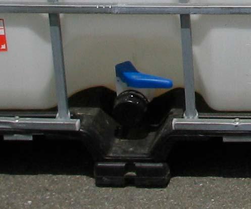 Exemple de montage d'une vanne sur une cuve
