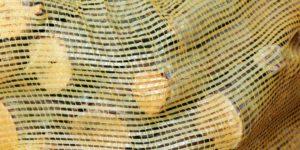 sac filet Polypropylène jaune avec tirette