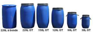 Gamme de fûts disponibles chez Containers Service