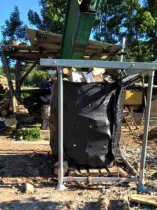 Exemple d'utilisation d'un Big Bag bois de chauffage