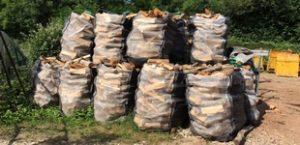 Exemple de gerbage de Big Bag bois de chauffage