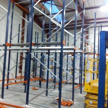 montage rack stockage